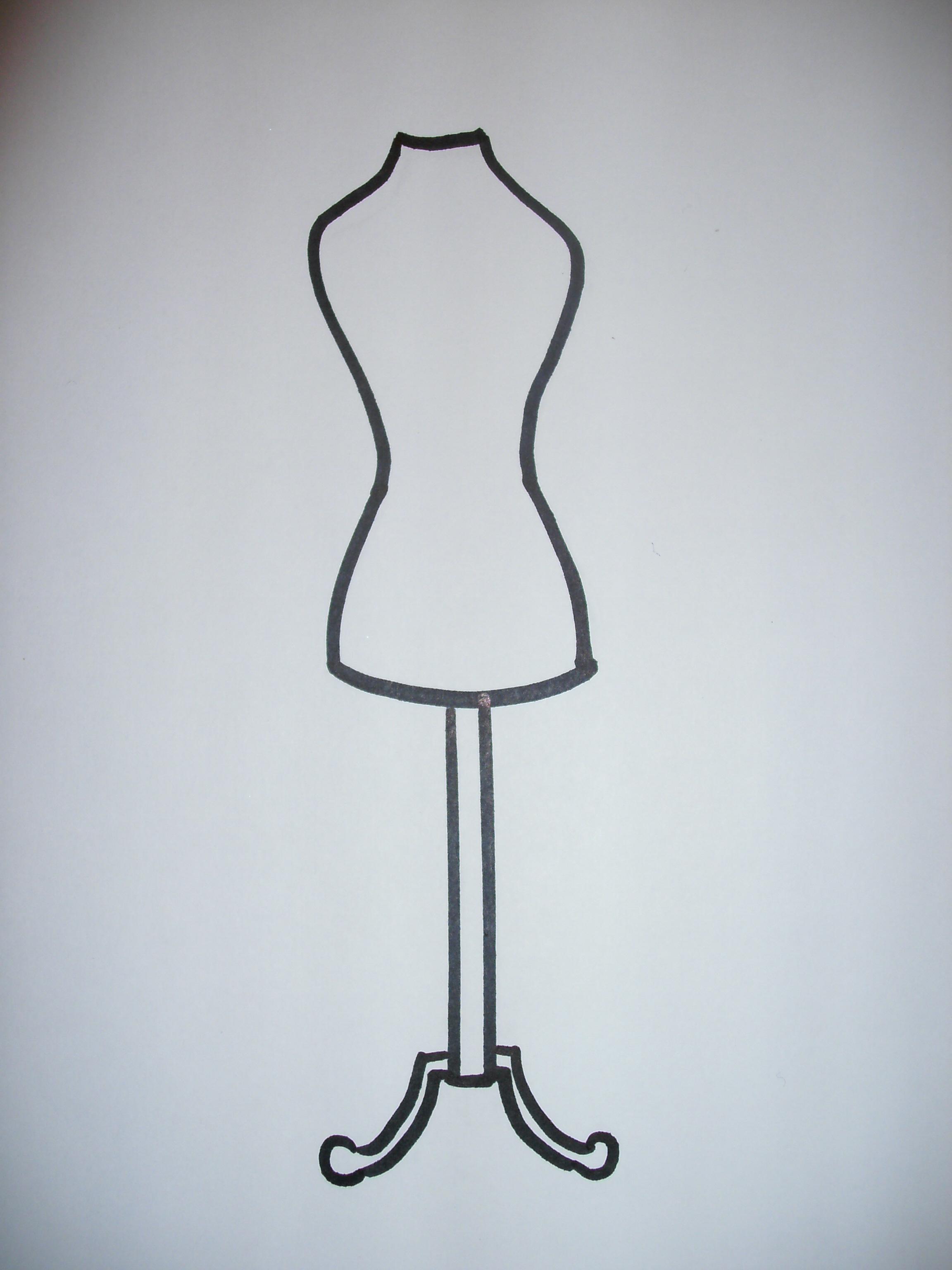 dress form outline mersn proforum co