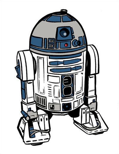 harder than drawing on the  R2d2 Drawing