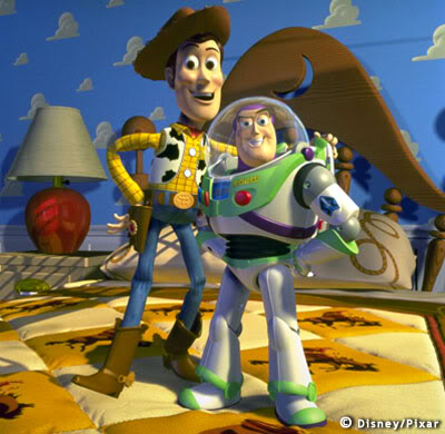 Buzz Lightyear and Woody from