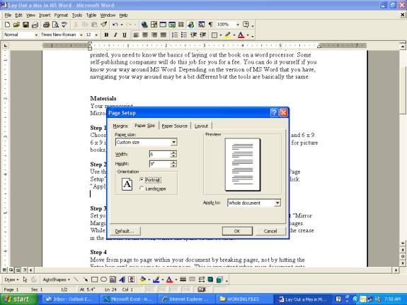 How to Lay Out a Book Manuscript in Microsoft Word
