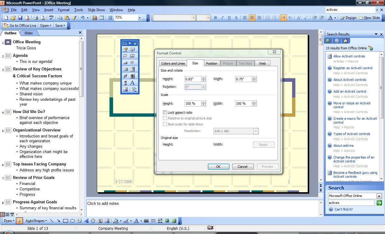 Cómo usar el ActiveX Control de Powerpoint | Techlandia