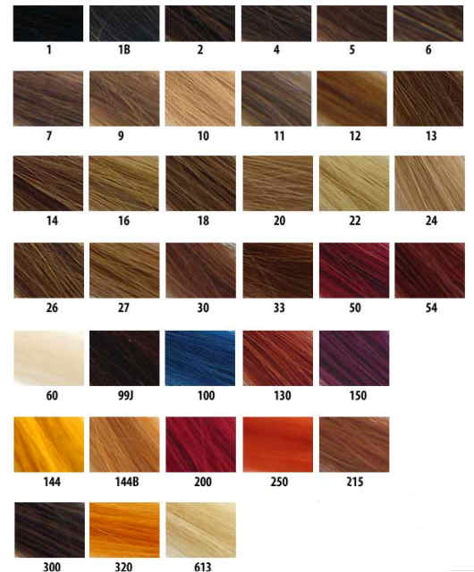 Select among six different hair colors: Light Blonde, Golden Blonde,