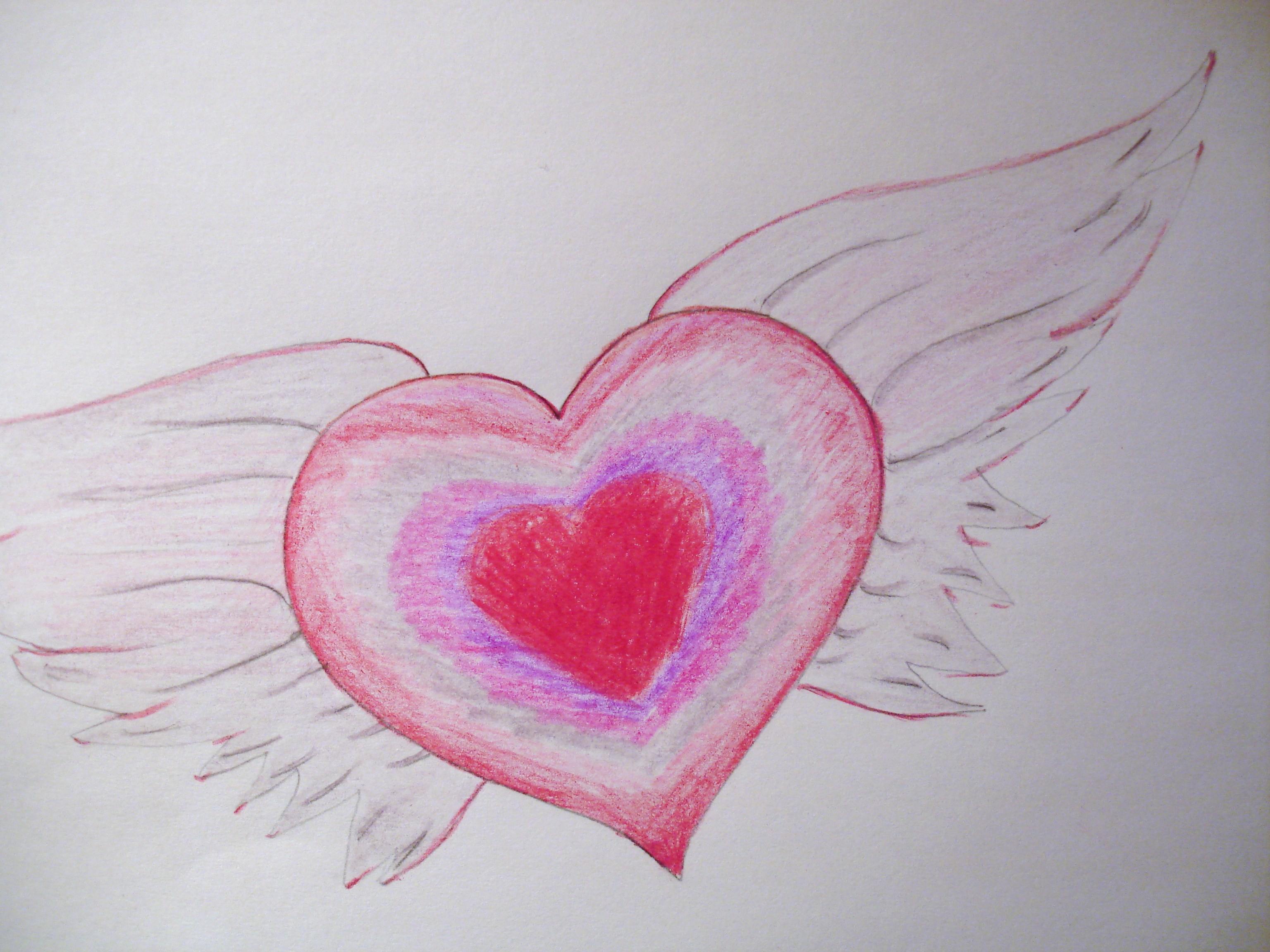 How to Draw Valentine Hearts With Wings – How to Draw Valentine Cards