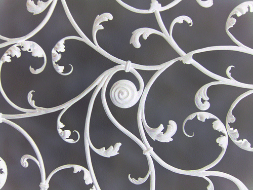 wrought iron headboard image by