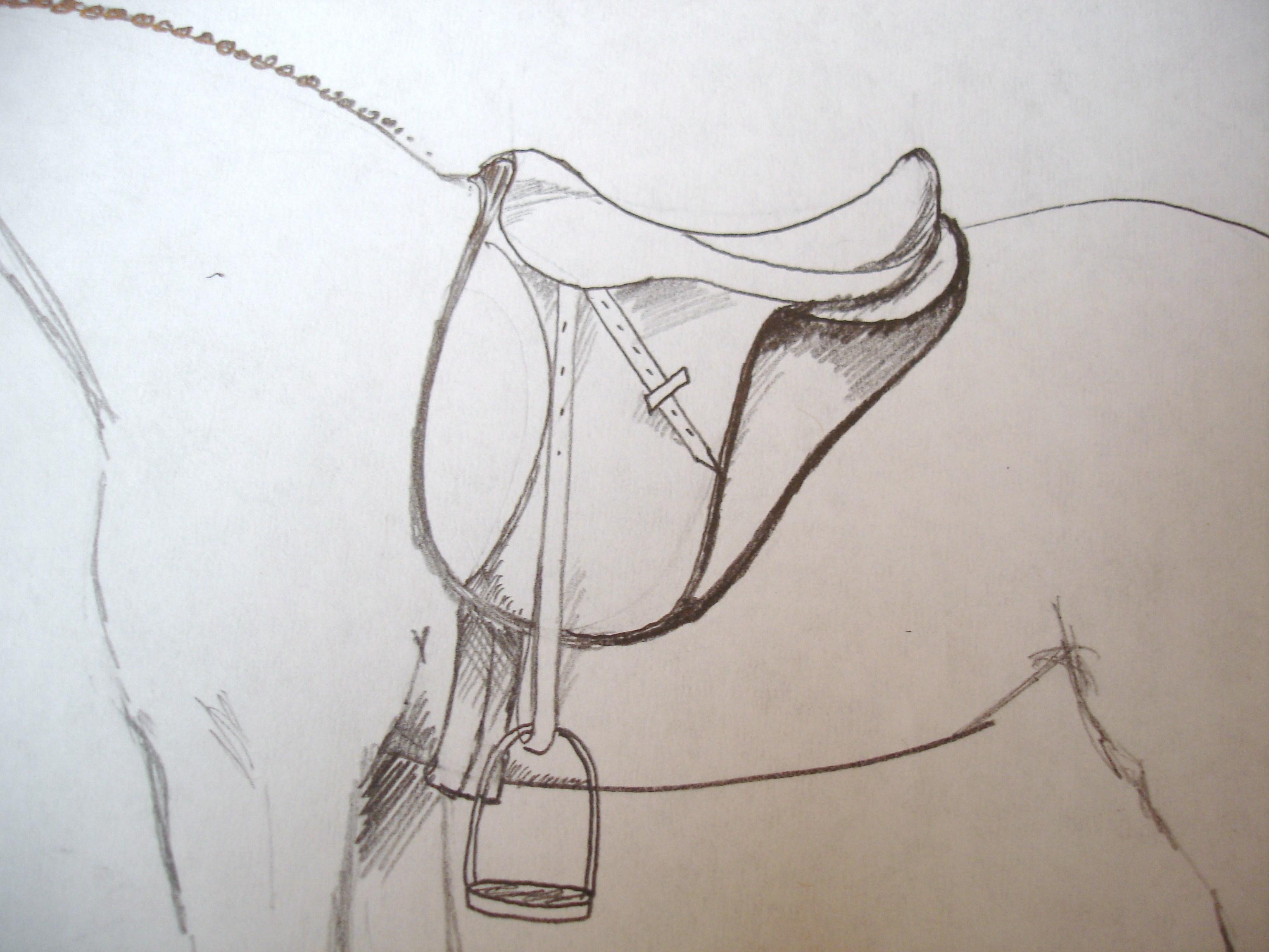 como desenhar uma sela em um cavalo