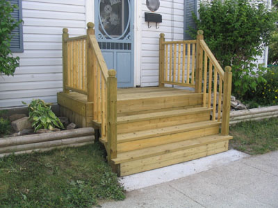 Escaleras Exteriores De Madera Barandilla Con Solera With Escaleras - Escaleras-de-madera-para-exteriores