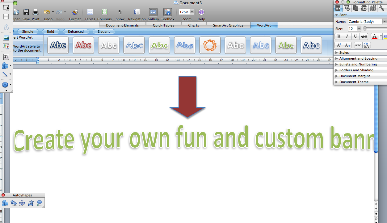 How to Make a Banner on Microsoft Word 2007