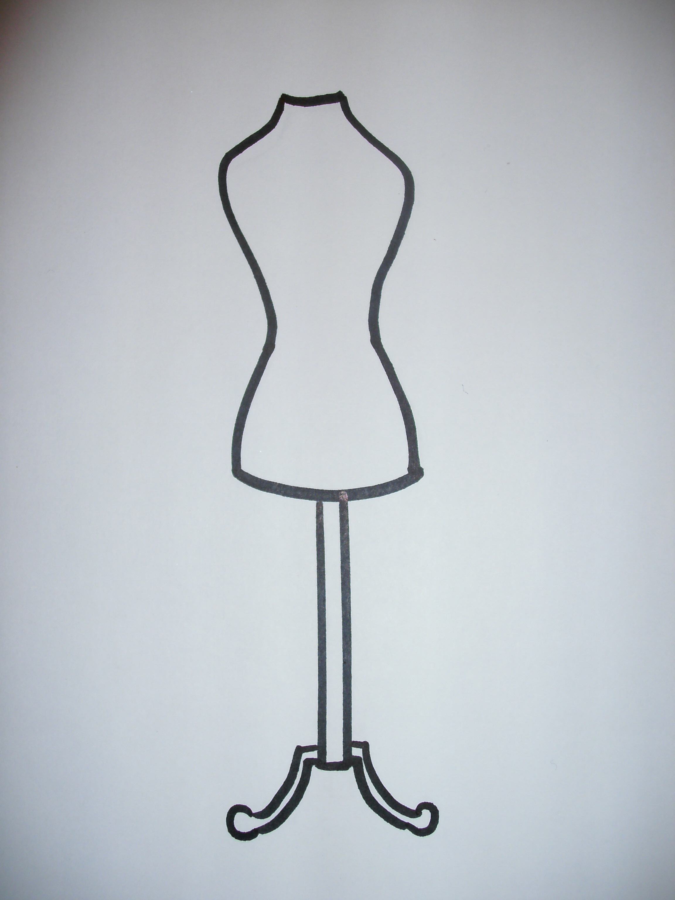 Dress Stand Drawing