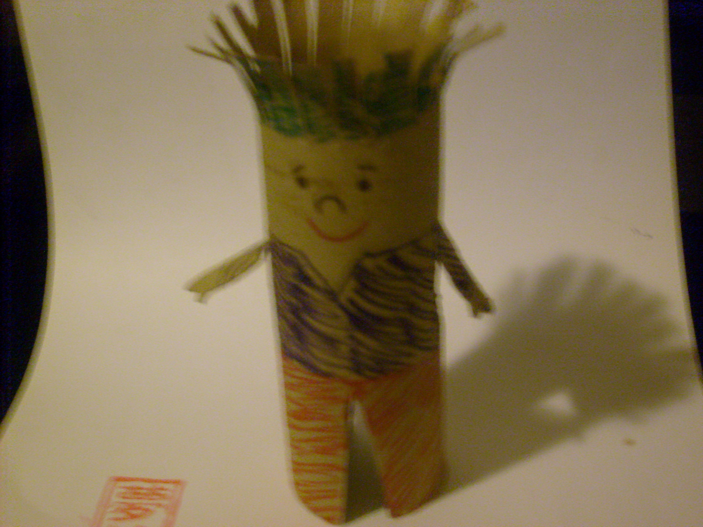 How to make a man out of toilet paper rolls ehow uk for Things to make with toilet paper rolls