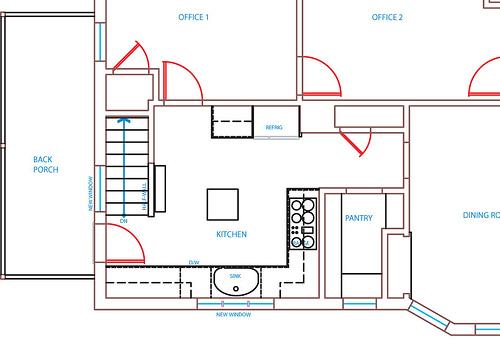 C mo dise ar una cocina de 2 m por 3 5 m ehow en espa ol for Disenar plano cocina