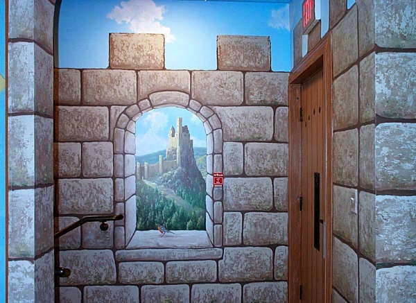 How to paint faux castle walls ehow uk for Create a wall mural