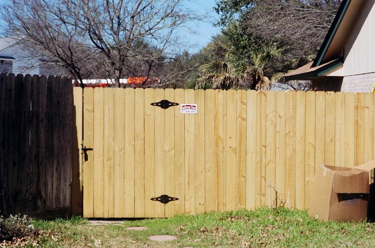 how to build a gate from treated wood panels garden guides