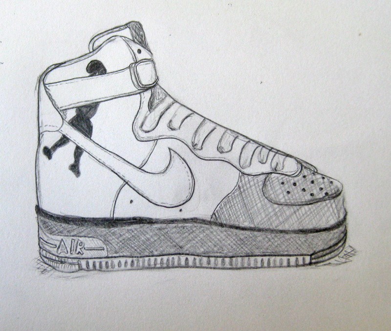 How to draw nike air force ones ehow uk for Air force decoration writing guide