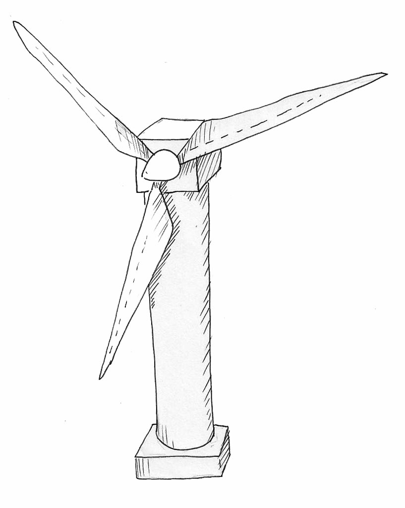 how to make an easy model of a wind turbine