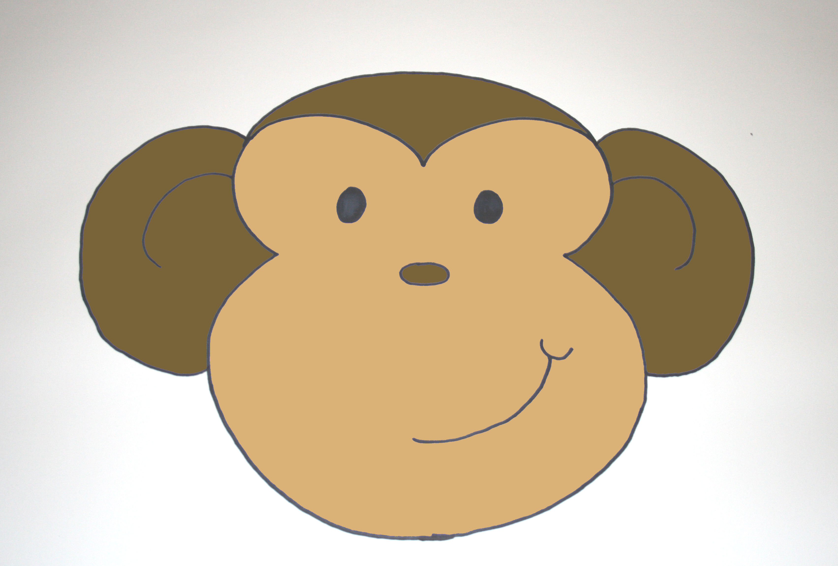 sock monkey face template - sock monkey cartoon face the image kid