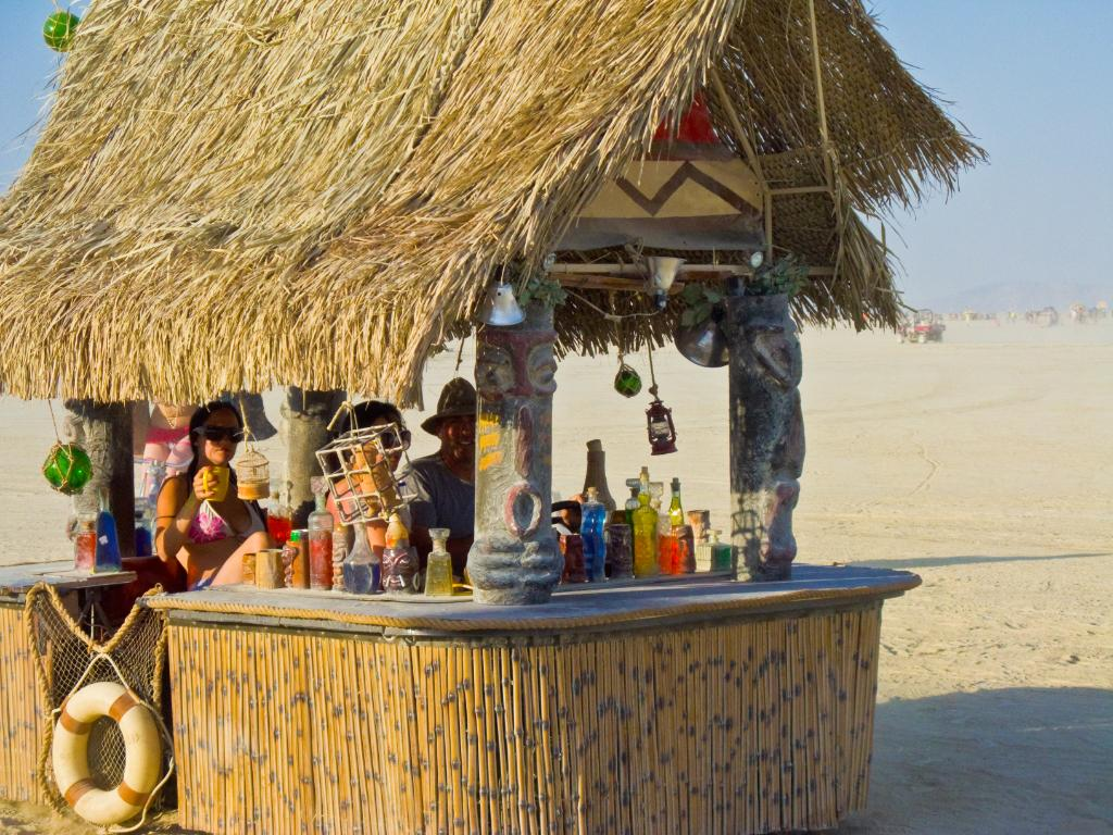 Tiki bar backyard ideas garden guides for Beach bar ideas