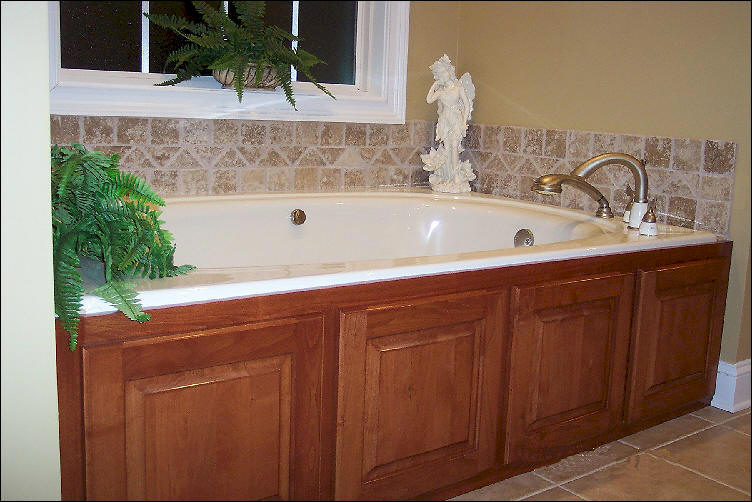 How to build a wall around a whirlpool bathtub garden guides for Whirlpool garden tub