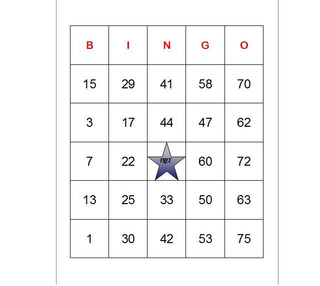 how to make bingo cards in excel ehow uk. Black Bedroom Furniture Sets. Home Design Ideas
