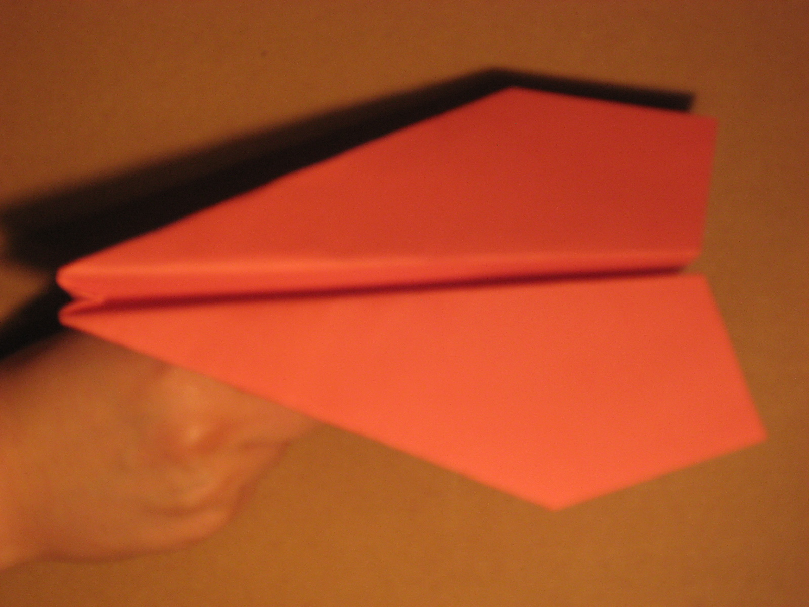written paper airplane instructions