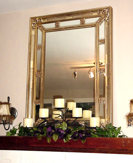 How to decorate a mantel with a mirror ehow uk - How to decorate a mantel with a mirror above it ...